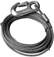 Cable de tracción de acero INOXIDABLE, con Mosquetón