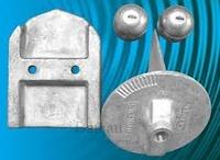 Kit Anodos de Aluminio Cola+Transom Alpha Gen1