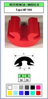 Muestra del perfil Tapa de Protección HP908 (Grupo P9)